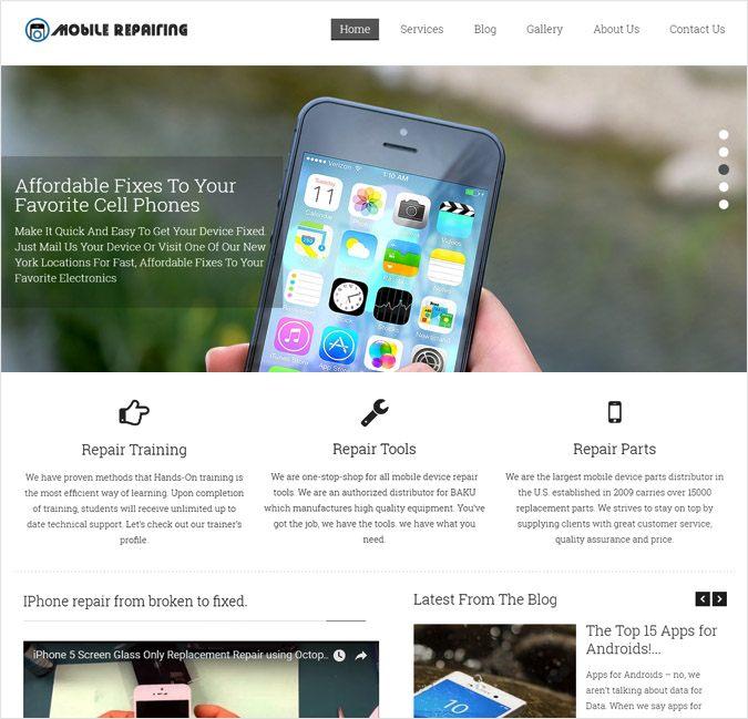 Mobile Repairing WP theme