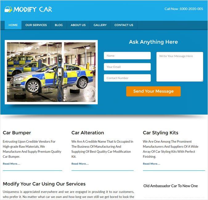 ModifyCar WP theme