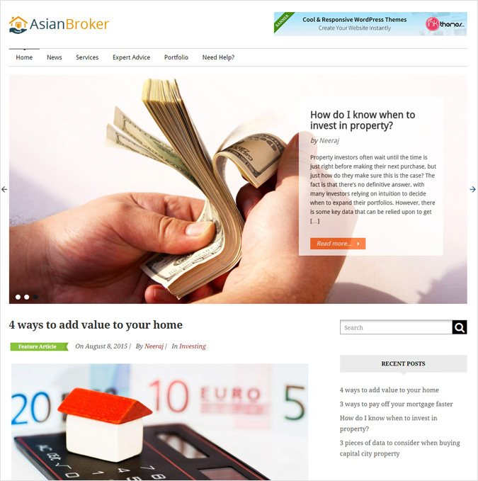 Mortgage Broker WordPress Theme