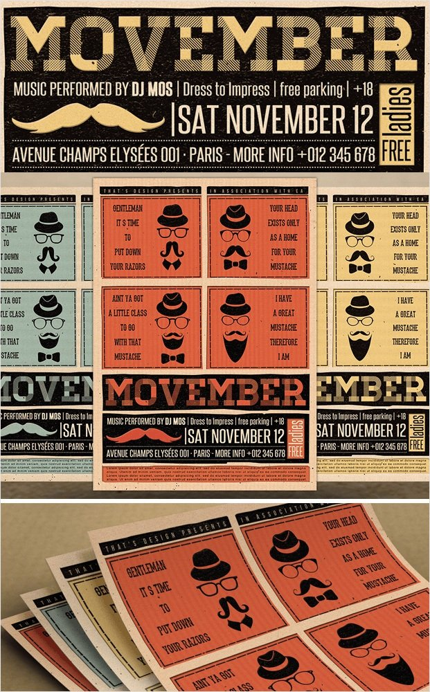 Movember - Online Flyer Creator