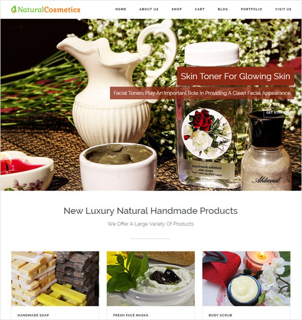 NaturalCosmetics WP theme