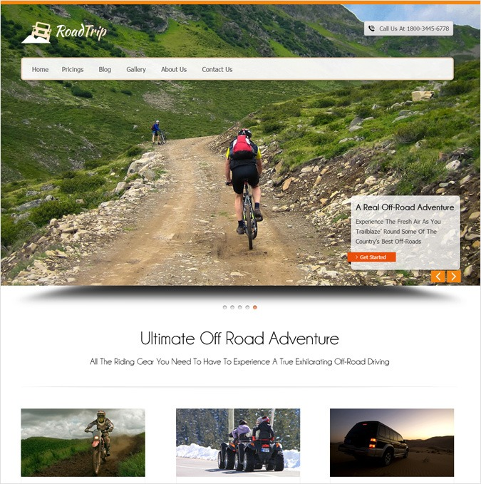 Off-road Tours WordPress Theme