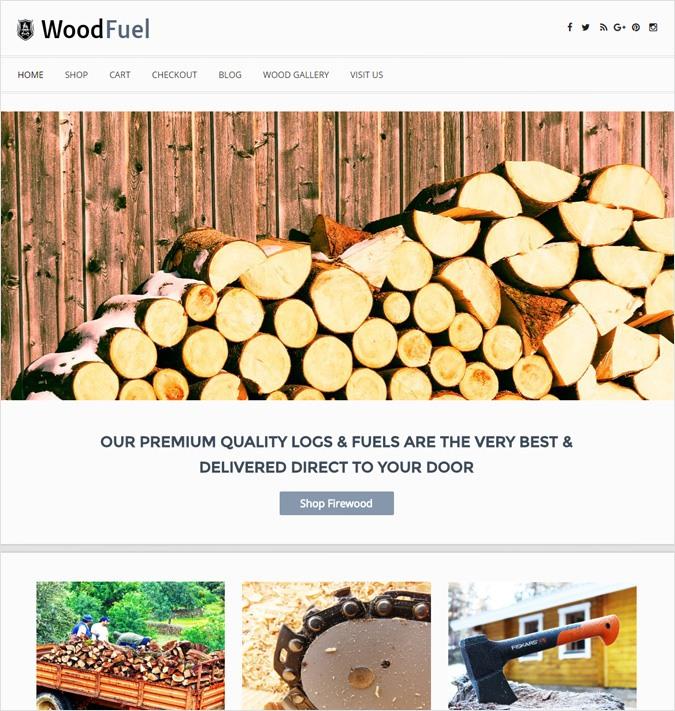 Online Firewood Sales WordPress Theme