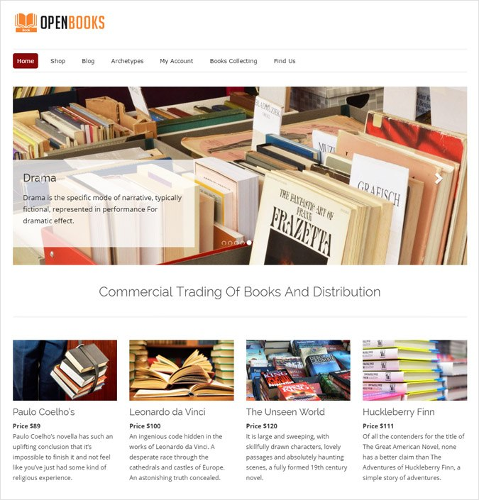 OpenBooks WP theme