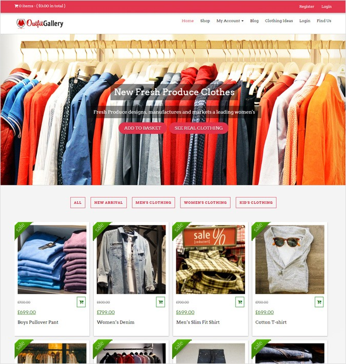 OutfitGallery WP theme