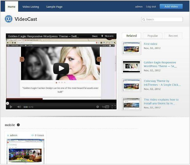 VideoMember WordPress theme