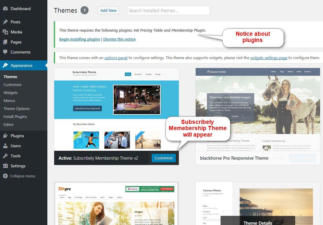 Subscribely Membership Theme