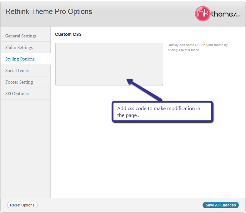 Rethink Theme Pro Options