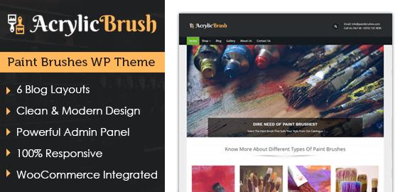 Paint Brushes WordPress Theme