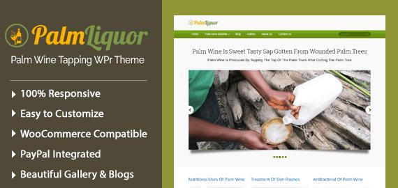Palm Wine Tapping WordPress Theme