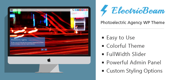 Photoelectric Agency WordPress Theme