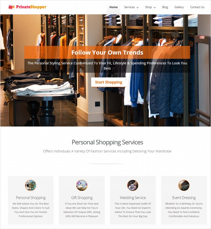PrivateShopper wp theme