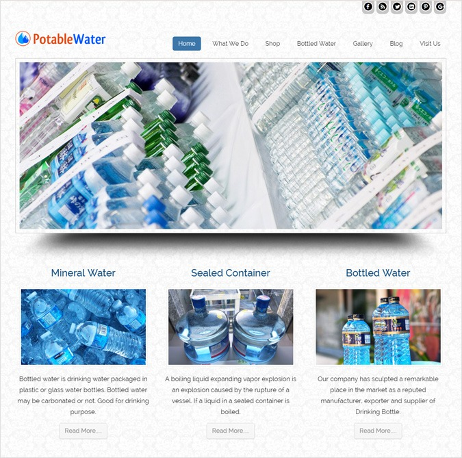 Pure Bottled Water Production WordPress Theme