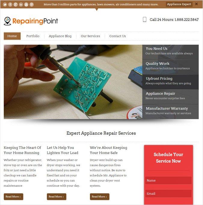 RepairingPoint WP theme