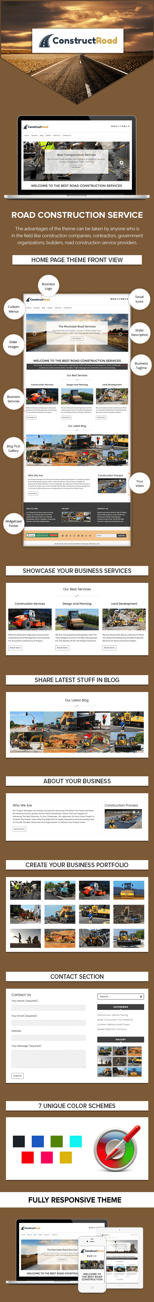 Road Construction Business WordPress Theme