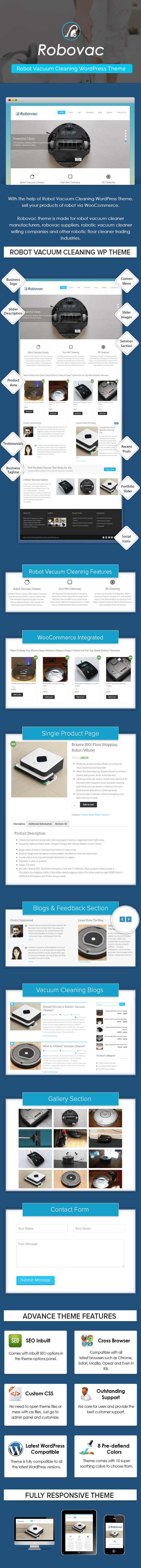 Robot Vacuum Cleaning WordPress Theme