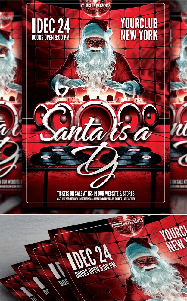 Santa - Christmas Dj Flyer Template
