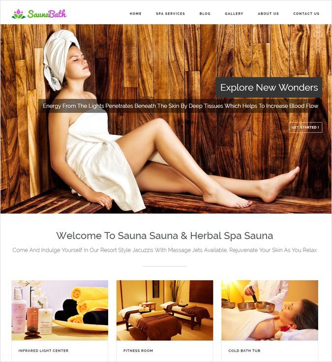 SaunaBath WP theme