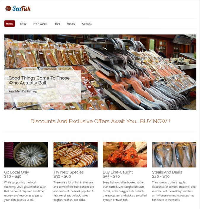 SeaFish WP theme