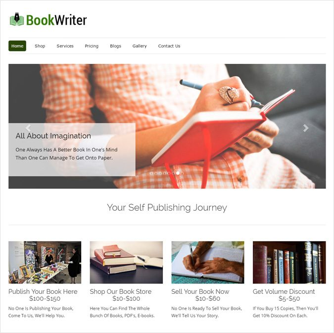 Self Publishing WordPress Theme