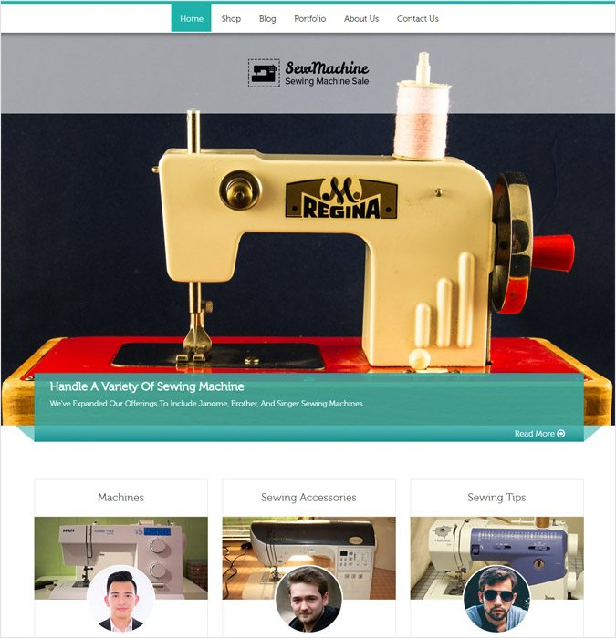 SewMachine WP theme