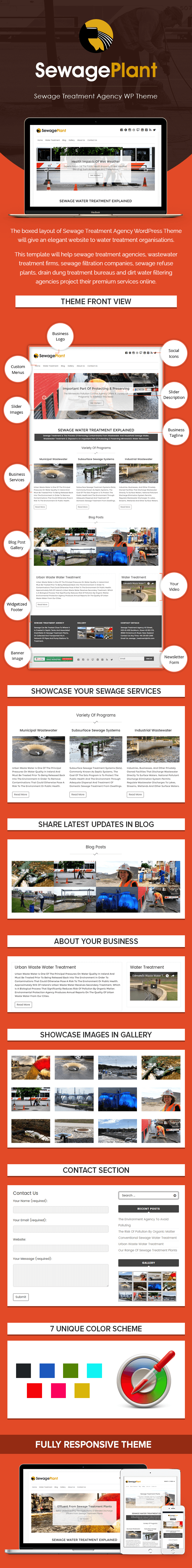 Sewage Treatment Agency WordPress Theme