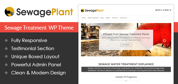 [SewagePlant] Sewage Treatment Agency WordPress Theme