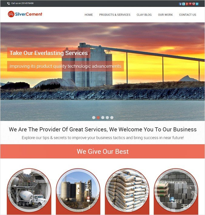 SilverCement WP theme
