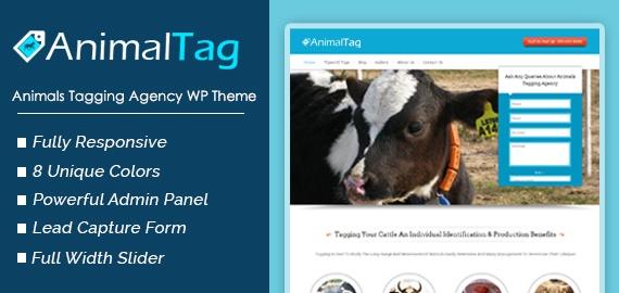 Animal Tag – Animals Tagging Agency WordPress Theme
