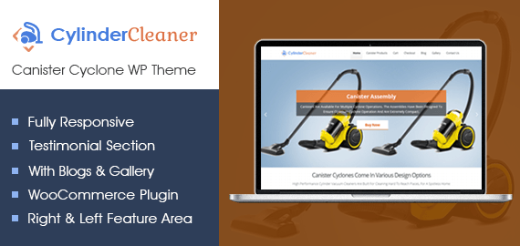 [CylinderCleaner] Canister Cyclone WordPress Theme