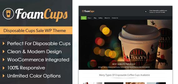 Foam Cups – Disposable Cups Sale WordPress Theme