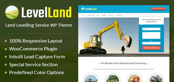 Level Land – Land Levelling Service WordPress Theme