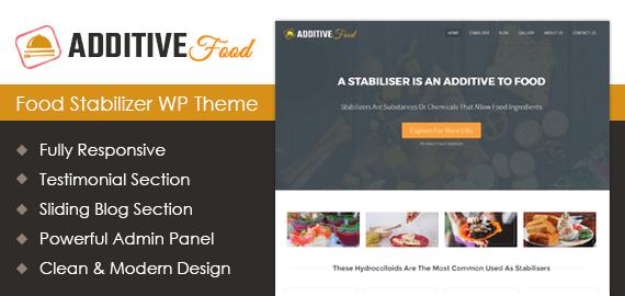 Food Stabilizer WordPress Theme
