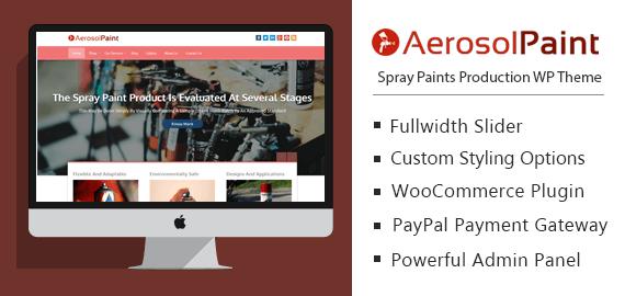 Aerosol Paint – Spray Paints Production WordPress Theme