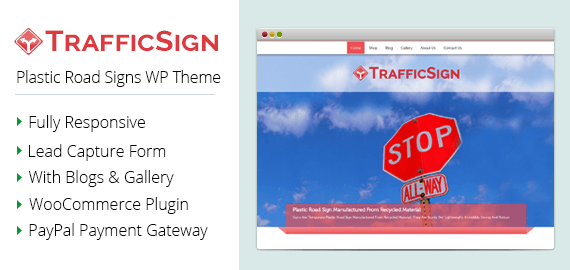 Traffic Sign – Plastic Road Signs WordPress Theme