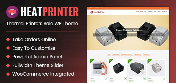[HeatPrinter] Thermal Printers Sale WordPress Theme