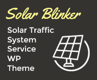 Solar Blinker - Solar Traffic System Service WordPress Theme & Template