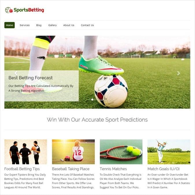 Sports Prediction Site WordPress Theme