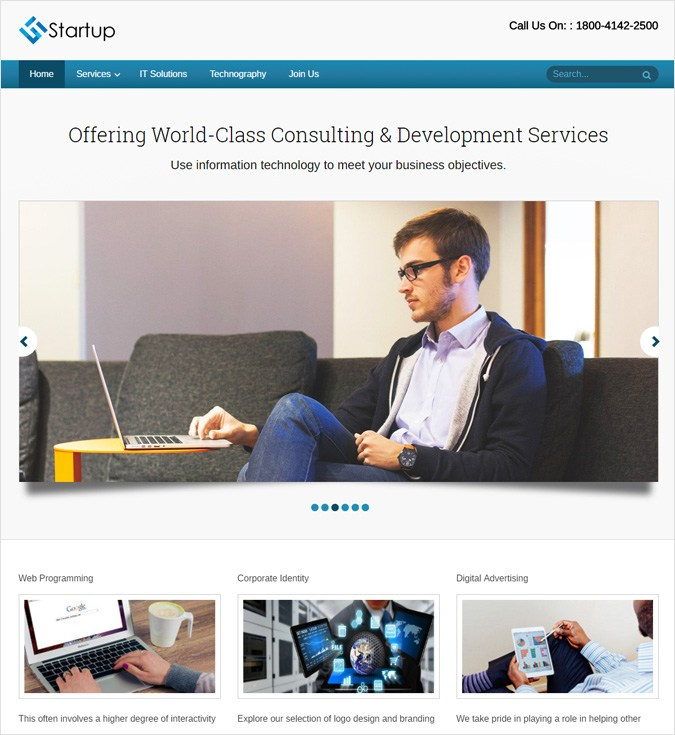 StartUp WP theme