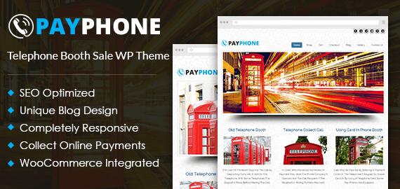Telephone Booth Sale WordPress Theme