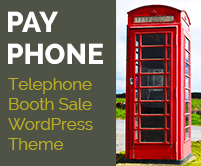 Pay Phone - Telephone Booth Sale WordPress Theme & Template