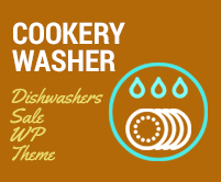 Cookery Washer - Dishwashers Sale WordPress Theme & Template