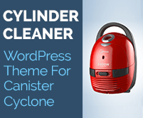 Cylinder Cleaner - Canister Cyclone WordPress Theme & Template