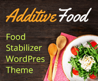 Additive Food - Food Stabilizer WordPress Theme & Template