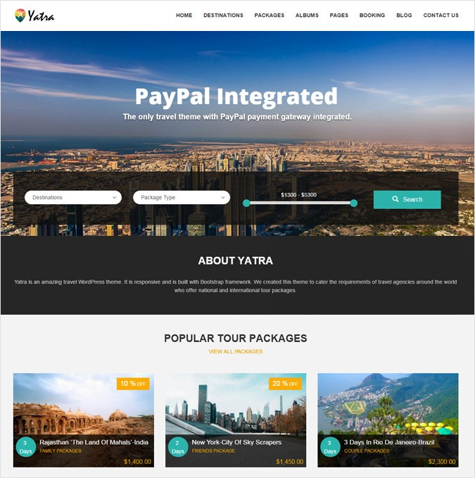 Travel And Tour Booking WordPress Theme
