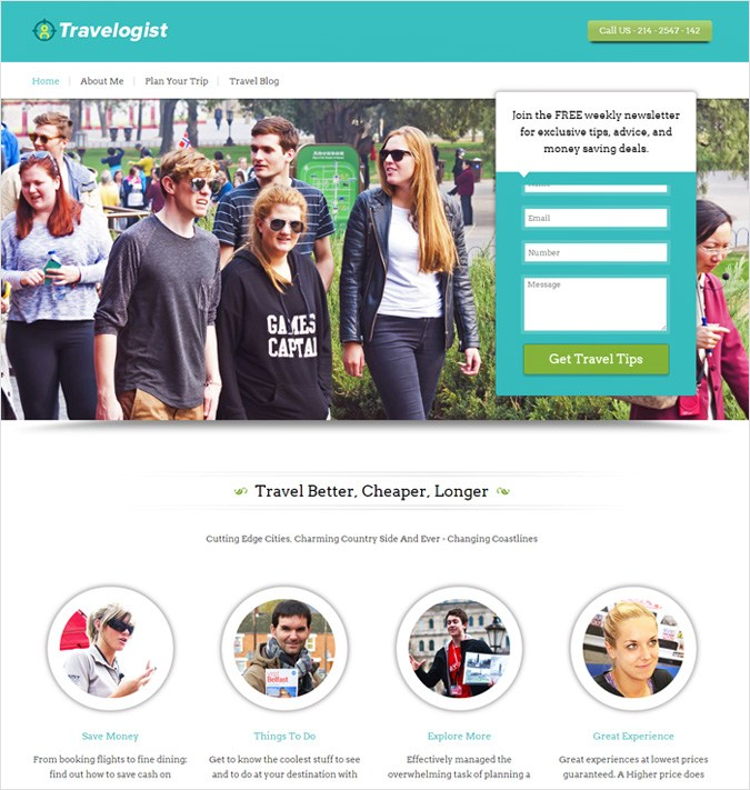 Travelogist WP theme