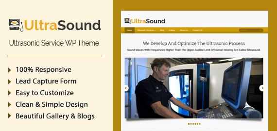 Ultrasonic Service WordPress Theme & Template