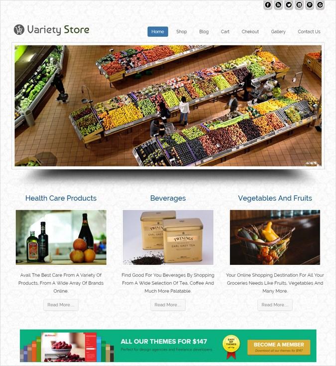 VarietyStore wp theme