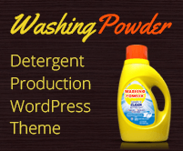 Washing Powder - Detergent Production WordPress Theme & Template