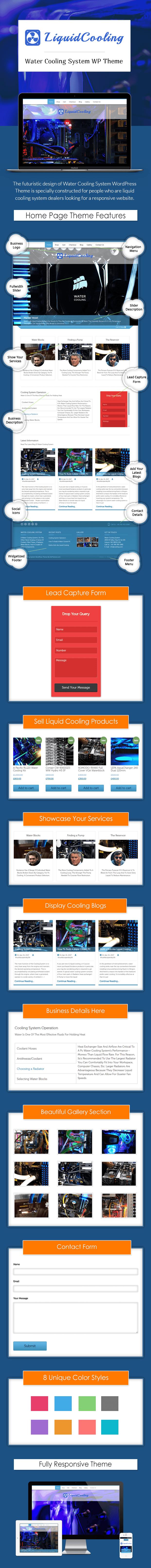 Water Cooling System WordPress Theme